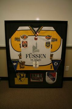 Beautifully framed German Hockey Jersey by FrameSource in Calgary AB