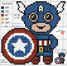 Beaded Cross Stitch, Cross Stitch Charts, Cross Stitch Embroidery, Hand Embroidery, Cross Stitch Patterns, Superhero Quilt, Minecraft Pattern, Motifs Perler, Plastic Canvas Tissue Boxes