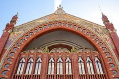 The beautiful façade of the Mercado Colón with its tiled motifs Stuff To Do, Things To Do, Valencia Spain, Beautiful, Design, Things To Make