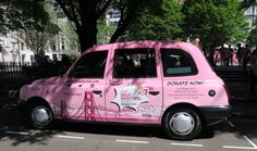 Our Boldly wrapped London Cab at my check point...