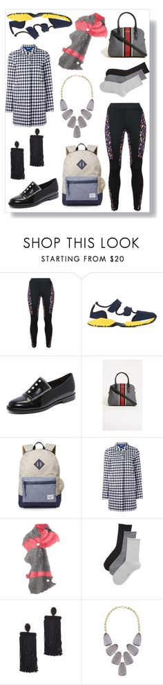 """I think in black"" by emmamegan-5678 ❤ liked on Polyvore featuring Versace, Marni, Opening Ceremony, Kate Spade, Herschel Supply Co., Woolrich, Karl Donoghue, Calvin Klein Underwear, Oscar de la Renta and Kendra Scott"