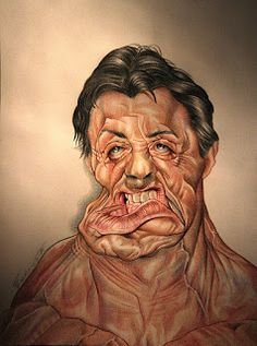 Caricatura di Sylvester Stallone - Caricature of Sylvester Stallone, matita su carta,pencil on paper, by Federighi. Cartoon Faces, Funny Faces, Cartoon Art, Funny Caricatures, Celebrity Caricatures, Creepy Pictures, Funny Pictures, Funny Cartoon Memes, Sylvester Stallone