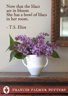 Now that the lilacs are in bloom... from Frances Palmer Pottery