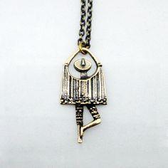 "Jorma Laine for Turun Hopea (FI), ""Dancer"" vintage bronze necklace, 1970s. #finland | finlandjewelry.com #forsale"
