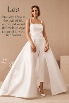 Zodiac wedding jumpsuit with overskirt inspiration – Leo Tulle Wedding Gown, Wedding Dresses, Bhldn Wedding Dress, Bridal Gown, Buy Wedding Dress Online, Wedding Jumpsuit, White Bridal, Perfect Wedding Dress, Alternative Outfits