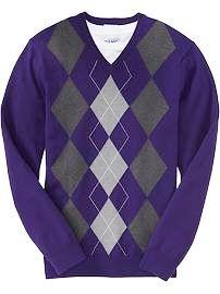 Uniform sweater.