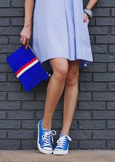 Frugal Fourth of July Fashion Formula : Summer Shirt Dress » WEAR+WHERE+WELL Featuring @madewell @converse @anthropologie