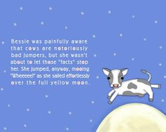 The Cow Jumped Over The Moon Nursery Rhyme Inspired Art. , via Etsy.