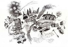建造物画「magic town」[ranntatta]   ART-Meter