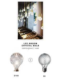 Lee Broom Crystal Bulb $190 vs Westinghouse Faceted Bulb $8 | look for less by Copy Cat Chic