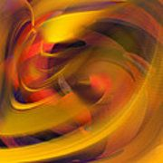 The Fire Within Abstract Print by rd Erickson