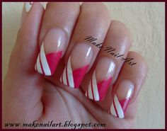 white and pink nails | Make Nail Art