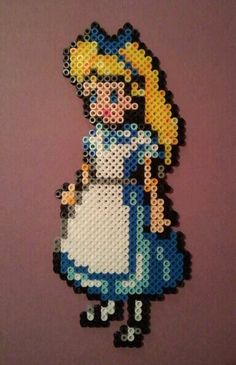 Alice in Wonderland perler beads by MyUpsideDownFrown