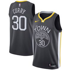 557fb069b90 Stephen Curry Golden State Warriors Nike Swingman Jersey - Statement  Edition – Black