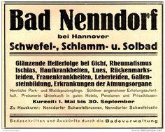 Original-Werbung/ Anzeige 1925 - BAD NENNDORF - ca. 135 x 110 mm