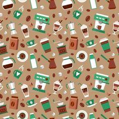 coffee scrapbook paper - Google Search