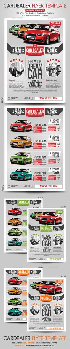 Car Flyer Recto / Verso — Photoshop PSD #magazine #flyer • Download ➝ https://graphicriver.net/item/car-flyer-recto-verso/19069922?ref=pxcr