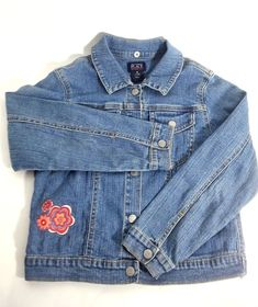 0a2a6fd2bb5 The Childrens Place Jean Jacket Stretch Distressed Wild Flowers Size Medium   TheChildrensPlace  JeanJacket