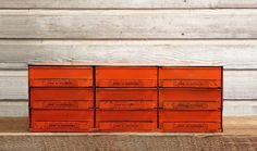 Vintage Industrial Metal Parts Cabinet by AuroraMills, $325.00
