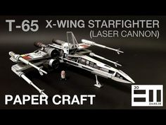 undefined X Wing, Cannon, Starwars, Miniatures, Youtube, Crafts, Diy, Manualidades, Bricolage