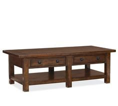 Not a lift top but like the style - center legs for extra support: Benchwright Rectangular Coffee Table | Pottery Barn