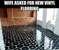 Flooring would be cool in a music room!