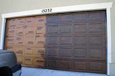 DIY: faux wood garage door