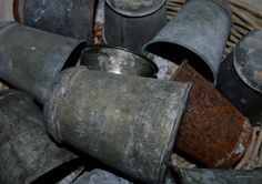 Vintage Zinc Pot by FragmentsEtc on Etsy, $14.00