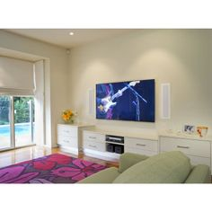 Elite 303 In Wall Speakers Home Theater Surround Sound, Center Speaker, In Wall Speakers, Entertainment Wall, Surround Sound Systems, Glass Panels, Great Rooms, Tv, House