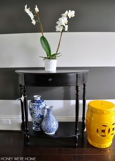 Small Half Moon Table For Hall sirard half moon console table | new house! | pinterest | half