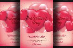 Valentines Day, Design Art, Graphic Design, Club Flyers, Flyer Template, Texts, Motivational, Templates, Create