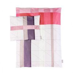 S&B Colour block dekbedovertrek junior rood 100x140