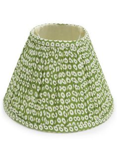 Brighten up your living space with Pooky Lighting's block-printed cotton lampshade. Green Lamp Shade, Shades Of Green, Bedroom Lampshade, Ch Products, Pooky Lighting, Resin Table, Green Dot, Bedroom Green, Lampshades