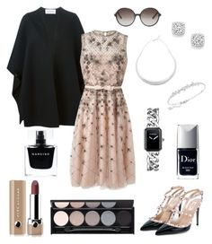 """""""Untitled #127"""" by angelicaaans ❤ liked on Polyvore featuring Valentino, Robert Lee Morris, Bloomingdale's, Swarovski, Chanel, Christian Dior, Marc Jacobs, Witchery, Narciso Rodriguez and women's clothing"""