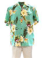 Two Palms Ceres Green Rayon Men's Hawaiian Shirt