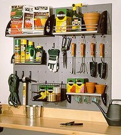 garden tool storage garage - Google Search