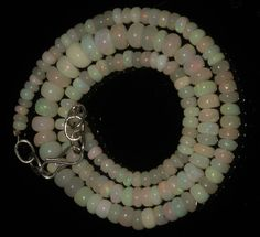 """56 CRT 3-7 MM 16"""" STRAND NATURAL ETHIOPIAN WELO FIRE OPAL  BEADS NACKLACE- 57874"""