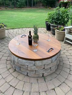 Backyard Patio Designs, Backyard Landscaping, Fire Pit Designs, Fire Pit Backyard, Fire Pit Pergola, Dyi Fire Pit, Fire Pit On Wood Deck, Small Garden Fire Pit, Outdoor Fire Pit Table