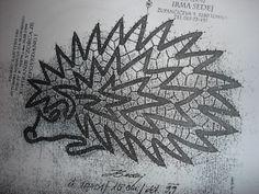 gracias a las que me mandais patrones, - marianeus - Picasa Albums Web Hairpin Lace, Bobbin Lace Patterns, Lacemaking, Irish Crochet, Fiber Art, Hair Pins, Tatting, Hedgehog, Projects To Try