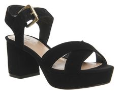 Buy Black Suede Office Montana Platform Block Heels from OFFICE.co.uk.