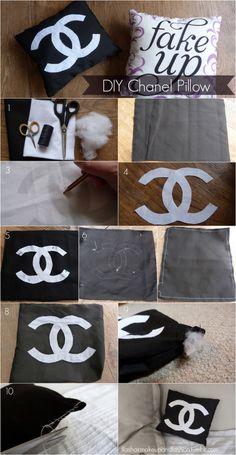 Chanel pillow DIY
