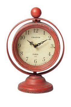 Red Swivel Clock