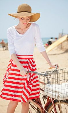 Race Point Skirt (I have a weakness for striped skirts.) #spring #stripes #shabbyapple