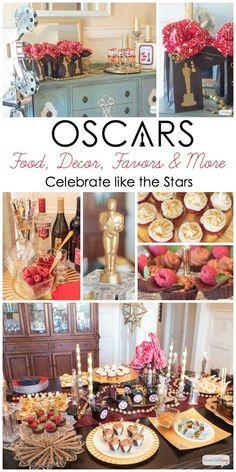 Atta Girl Says   Oscar Party Ideas: Celebrate Like the Stars   http://www.attagirlsays.com