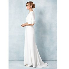 Buy Phase Eight Bridal Chelsie Wedding Dress, Ivory Online at johnlewis.com