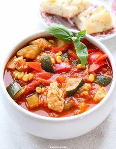 Leczo z kurczakiem Chana Masala, Food Inspiration, Thai Red Curry, Dinner Recipes, Dinner Ideas, Breastfeeding, Healthy Recipes, Healthy Food, Clean Eating