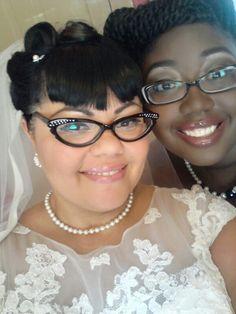 My wedding day with my bff!