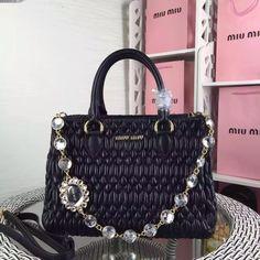 Miu Miu Swarovski Crystal Hobo bag on Carousell