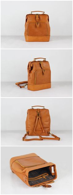 Full Grain Women Leather Backpack Travel Backpack School Backpack