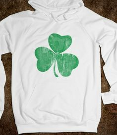 Awesome Vintage Distressed Shamrock St. Patrick's Day Hoody
